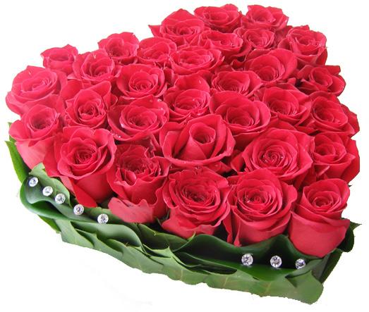 """""""Сердце стучит"""" Композиция из 51 красной розы 180 BYN"""